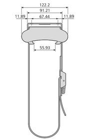 Uchwyt Do Podwieszania Komputera Pod Biurkiem CPUH-004 Srebrny - Accuride