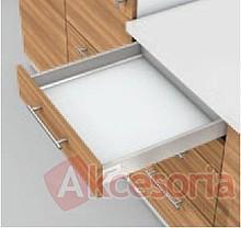 Zestaw elementów do wykonania szuflady Tandembox Antaro z hamulcem BLUMOTION. Do samodzielnego montażu. Bok N=68mm Długość prowadnic 500mm Kolor...