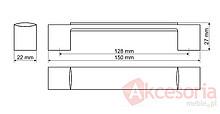 Uchwyt UU30 chrom połysk rozstaw 128mm - Gamet