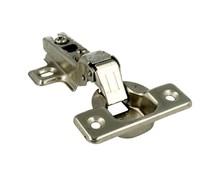 Zawias puszkowy TECNO 110°. Puszka 35mm. wyg. 8° z prowadnikiem. Do drzwi bliźniaczych ze sprężyną, Wykończenie galwaniczne nikiel.