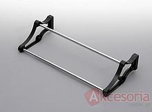 Stojak na obuwie 24 80-1100 metal/tworzywo chrom/czarny Wyrób może uzupełniać wyposażenie szafy garderobnianej. Stojak ten umożliwia przechowywanie...