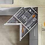 SZUFLADA Tandembox ANTARO NAROŻNABOK=83mm Zestaw elementów do wykonania szuflady SPACE CORNER ze sztywnym frontem - Standardowa M z Blumotion...