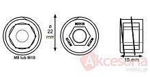 Złącze Nogi Stołu M8 Wspuszczane KEA - Siso