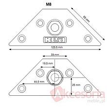 Złącze Nogi Stołu M8 Trapez KEA - Siso