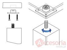 Prowadnice i okucia do stołów Złącze Nogi Stołu M8 Kwadrat KEA - Siso