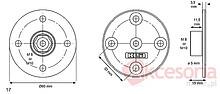 Złącze Nogi Stołu M8 Okrągłe KEA - Siso