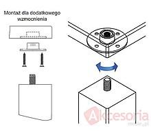Złącze Nogi Stołu M10 Okrągłe KEA - Siso