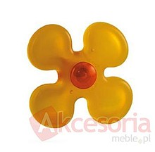 Gałka Schwinnżółty kwiatek Doskonała do mebli dziecięcych. Materiał tworzywo sztuczne.  Gałka meblowa Żółty Kwiatek będzie znakomitym...