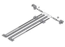 Zestaw stabilizacji bocznej ZST.410TV do prowadnic Tandem 560H o długości do 41cm z mechanizmem BLUMOTION (hamulcem) i pełnym wysuwie. Zapewnia...