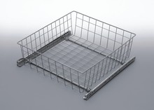 Szuflada MD wewnętrzna do szafki 60 wysokość 200mm z prowadnicami rolkowymi częściowego wysuwu Metal Lakier srebrny Szuflady do mebli są dostępne w...