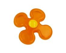Gałka Schwinnpomarańczowy kwiatek Doskonała do mebli dziecięcych. Materiał tworzywo sztuczne.  Gałka meblowa Pomarańczowy Kwiatek będzie...