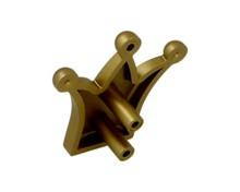 Gałka 6551 korona mat złoty rozstaw 16mm - Schwinn