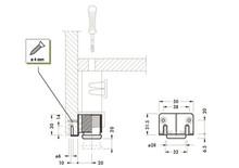 Regulator Poziomu H-30mm Mocowany Do Przygotowanych Otworów - Camar