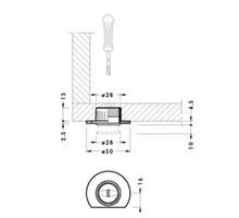 Regulator Poziomu H-15mm Wpuszczany W Płytę - Camar