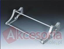 Stojak na obuwie 24 400-700 metal/tworzywo kolor srebrny Wyrób może uzupełniać wyposażenie szafy garderobnianej. Stojak ten umożliwia przechowywanie...