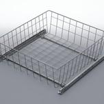 Szuflada MD wewnętrzna do szafki 30 wysokość 50mm z prowadnicami rolkowymi częściowego wysuwu Metal Lakier srebrny Szuflady do mebli są dostępne w...