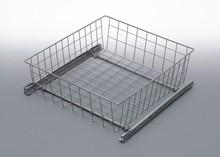 Szuflada MD wewnętrzna do szafki 30 wysokość 100mm z prowadnicami rolkowymi częściowego wysuwu Metal Lakier srebrny Szuflady do mebli są dostępne w...