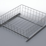 Szuflada MD wewnętrzna do szafki 40 wysokość 100mm z prowadnicami rolkowymi częściowego wysuwu Metal Lakier biały Szuflady do mebli są dostępne w...