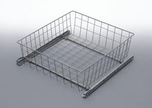 Szuflada MD wewnętrzna do szafki 60 wysokość 50mm z prowadnicami rolkowymi częściowego wysuwu Metal Lakier srebrny Szuflady do mebli są dostępne w...