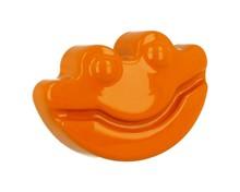 Dziecięca gałka firmy GAMET z kolekcji HAPPY FROGS pomarańczowa W skład kolekcji wchodzą również uchwyty DU05-0096-R0026 oraz wieszaki DW05-R0026