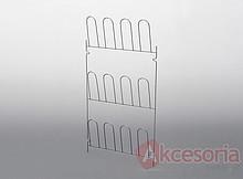 Wieszak na obuwie metal lakier srebrny Wyrób może uzupełniać wyposażenie szafy garderobnianej. Wieszak ten umożliwia przechowywanie obuwia, co pozwala...