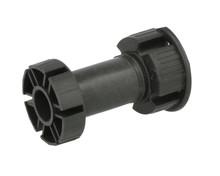 Nóżka plastikowa PN16 czarna  wys. 10cm z klipem - IMPORT