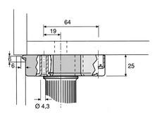 Nóżka A0683 360 Udźwig 380kg Wys. 6cm Z Regulacją Czarna Wurth - Würth