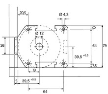 Systemy cokołowe Nóżka A0683 360 Udźwig 500kg Wys. 8.5cm Z Regulacją Czarna Wurth - Würth