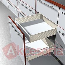 Szuflady Reling Podłużny ZRE Do Metabox WYSOKI Front Dł.35cm Szary Blum - Blum