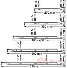 Szuflada METABOX 320N Z Hamulcem h=54mm 50cm Szara Wysuw 75% - Blum