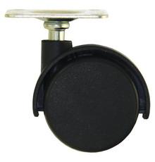 Kółko obrotowe czarne podwójne z płytka mocującą bez hamulca.  Wymiary: * płytka - 42x42x2 mm * rozstaw nawiertów płytki - 32x32mm * szerokość...