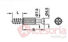 Trzpień Łączący MinifixS2000 Stal Surowa Do otworu5mm Wierc.34mm - Häfele