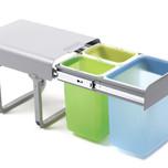 Ekologiczny kosz na śmieci podwójny EKKO 3 z prowadnicami kulkowymi pełnego wysuwu.  Idealne zastosowanie do kuchni w dowolnym miejscu. Umożliwia...