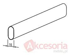Drążek Profilowany  Metal Ocynk Jasny 100 cm - Rejs