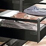 Zestaw elementów do wykonania szuflady wewnętrznej Tandembox ANTARO z hamulcem Wysokość D = bok M plus 1 reling kwadratowy wysokość 199mm (zabudowa...