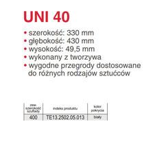 Wkład szufladowy UNI  (330/430) 40 tworzywo sztuczne biały - Rejs