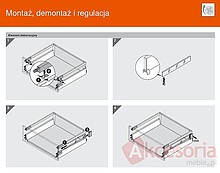 Szuflady BOXSIDE Metal Z37A BIAŁY Do ANTARO Dł.65cm Wys.D 2szt+Mocowanie - Blum