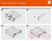 Szuflady BOXSIDE Metal Z37A BIAŁY Do ANTARO Dł.50cm Wys.D 2szt+Mocowanie - Blum