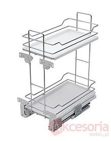 MAXIMA EVO cargo mini 60 2 poziomy metal/tworzywo chrom/biały - Rejs