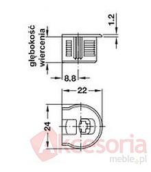 Złączki Montażowe Złączka Rafix Bez Zaczepu Do Grubości Płyty od 16mm Beż - Häfele