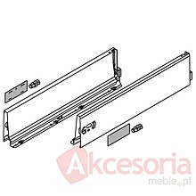 BOKI 358K Szarez zaślepkami do szuflady TANDEMBOX ANTARO Wysokość boku: K=115 mm Do długości prowadnicy: 450 mm Regulacja wysokości: +/- 2...