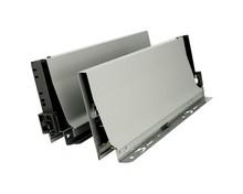BOKI 358K Szarez zaślepkami do szuflady TANDEMBOX ANTARO Wysokość boku: K=115 mm Do długości prowadnicy: 550 mm Regulacja wysokości: +/- 2...