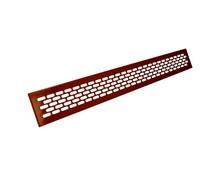 Kratka wentylacyjna aluminiowa 60/480 - Kolor lakier wiśnia REJWE12.0001.07.139  Wymiary kratki: Długość -1,65cm Wysokość - 6,2cm...