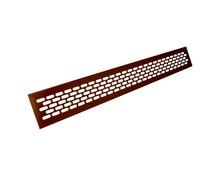 Kratka wentylacyjna aluminiowa 60/480 - Kolor brąz   Wymiary kratki: Długość - 1,65cm Wysokość - 6,2cm Szerokość - 48cm Otwór montażowy...