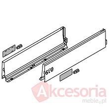 BOKI 358K Jedwabiściebiałez zaślepkami do szuflady TANDEMBOX ANTARO Wysokość boku: K=115 mm Do długości prowadnicy: 550 mm Regulacja...