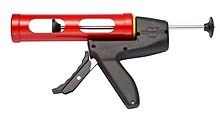 Pistolet ręczny do tub o pojemności 310ml.  Kolor czarno-czerwony Z mechanizmem odprężania Szybki posuw Doskonałe przenoszenie siły nacisku...