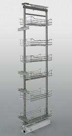 MAXIMA cargo OBROTOWE midi 30 5 poziomów metal lakier srebrny *kosz z dnem drucianym *prowadnice pełnego wysuwu Fulterer z miękkim dociągiem...