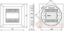 Przepust kablowy Przepust RECTA fi80x13mm Stal Szczotkowana - Siso