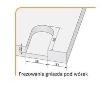 Prowadnice do drzwi Rączka Classic Plus Do Drzwi Przesuwanych Srebrna dł. 270 cm - Aluprofil
