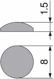 Odbojnik samoprzylepny H=1,5mm fi.8mm 1 Listek=50szt. Blum - Blum